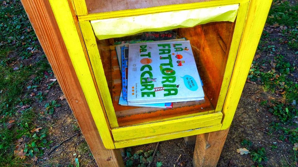 Libri per bambini al bookcrossing di Rivalta
