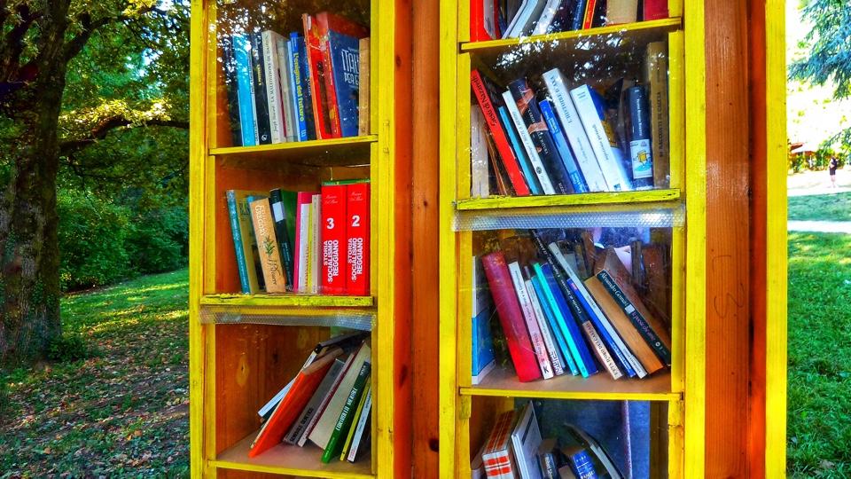 Libreria libera e libri al bookcrossing Rivalta